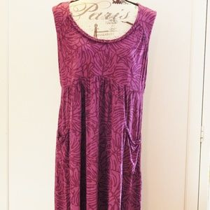 Style & Co. Purple Dress w/Pockets Sz XL